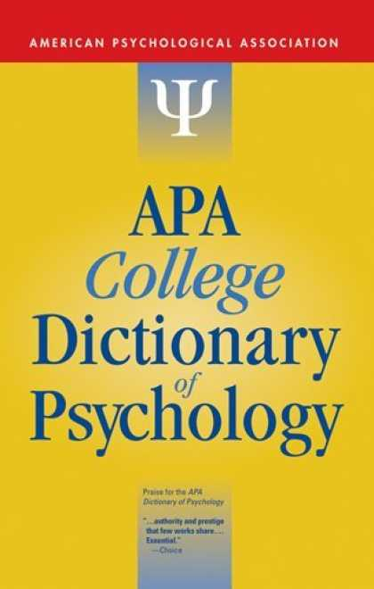 Books About Psychology - APA College Dictionary of Psychology