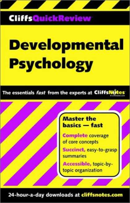 Books About Psychology - Developmental Psychology (Cliffs Quick Review)