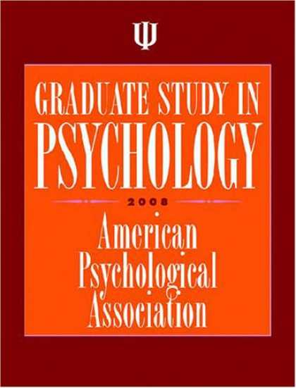 Books About Psychology - Graduate Study in Psychology 2008