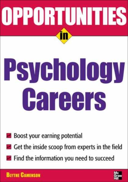 Books About Psychology - Opportunities in Psychology Careers