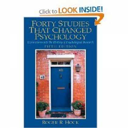 Books About Psychology - Forty Studies that Changed Psychology - 5th (Fifth) Edition
