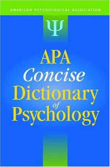 Books About Psychology - Apa Concise Dictionary of Psychology