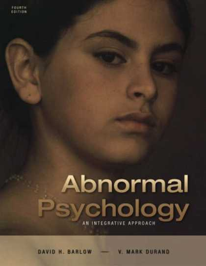 Books About Psychology - Abnormal Psychology: An Integrative Approach (with CD-ROM and InfoTrac®)