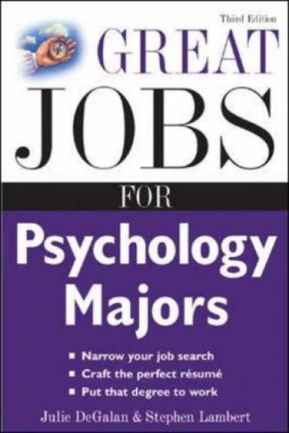 Books About Psychology - Great Jobs for Psychology Majors, 3rd ed. (Great Jobs For Series)