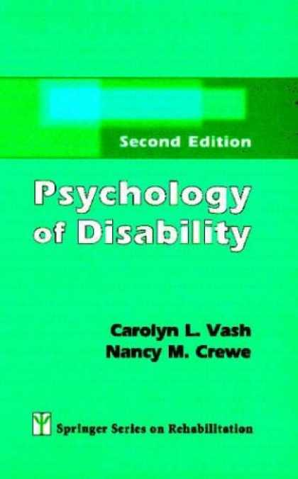 Books About Psychology - Psychology of Disability: Second Edition (Springer Series on Rehabilitation)
