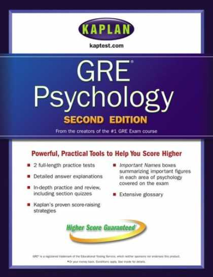 Books About Psychology - Kaplan GRE Psychology