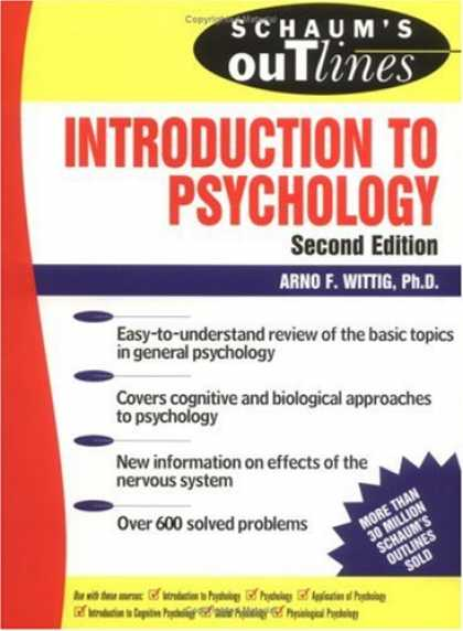 Books About Psychology - Schaum's Outline of Introduction to Psychology