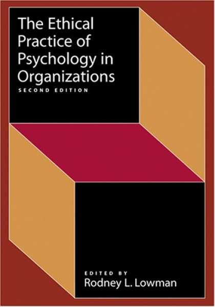 Books About Psychology - The Ethical Practice of Psychology in Organizations (Society for Industrial & Or