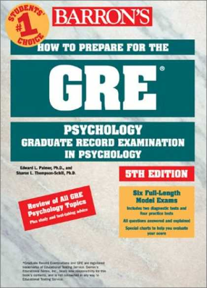 Books About Psychology - How to Prepare for the GRE in Psychology (Barron's How to Prepare for the Gre Ps