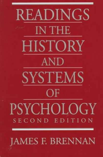 Books About Psychology - Readings in the History and Systems of Psychology (2nd Edition) (MySearchLab Ser