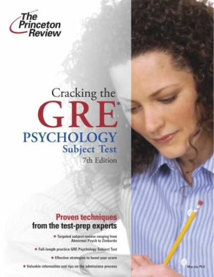 Books About Psychology - Cracking the GRE Psychology Subject Test, 7th Edition