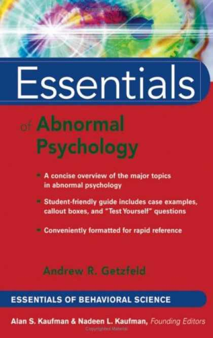 Books About Psychology - Essentials of Abnormal Psychology (Essentials of Behavioral Science)