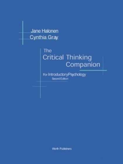 Books About Psychology - The Critical Thinking Companion for Introductory Psychology