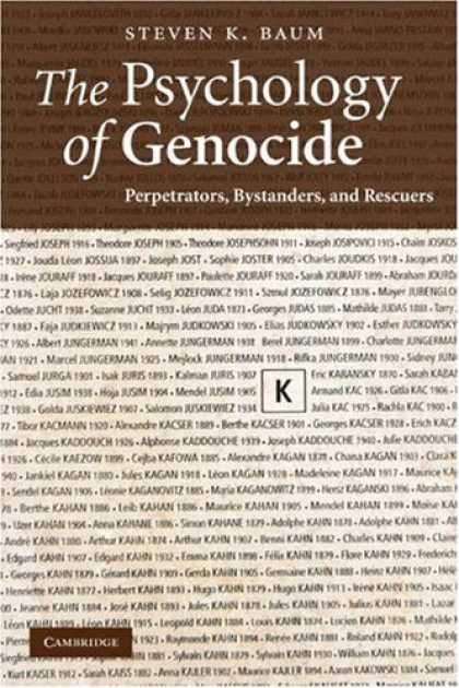 Books About Psychology - The Psychology of Genocide: Perpetrators, Bystanders, and Rescuers