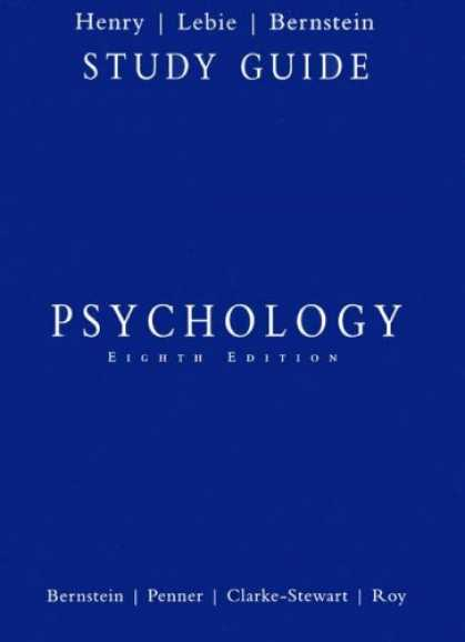Books About Psychology - Bernstein Psychology Student Study Guide Eighth Edition