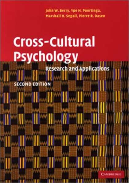 Books About Psychology - Cross-Cultural Psychology: Research and Applications
