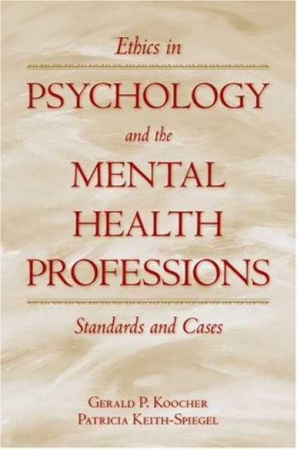 Books About Psychology - Ethics in Psychology and the Mental Health Professions: Standards and Cases (Oxf