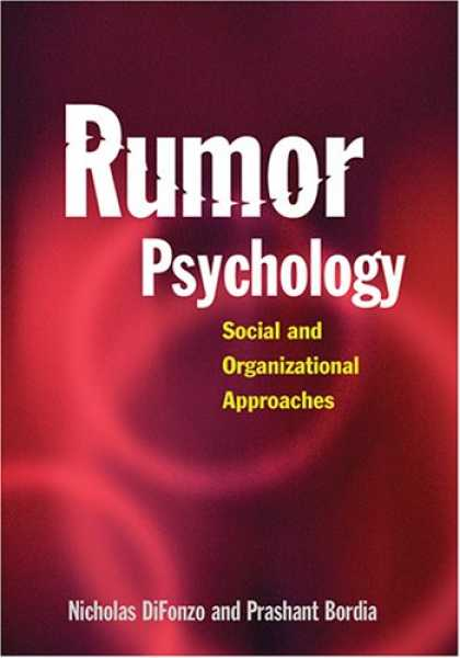 Books About Psychology - Rumor Psychology: Social And Organizational Approaches