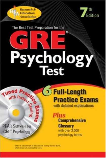 Books About Psychology - GRE Psychology w/ CD-ROM (REA) - The Best Test Prep for the GRE (Test Preps)