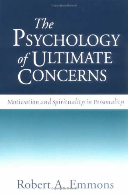 Books About Psychology - The Psychology of Ultimate Concerns: Motivation and Spirituality in Personality