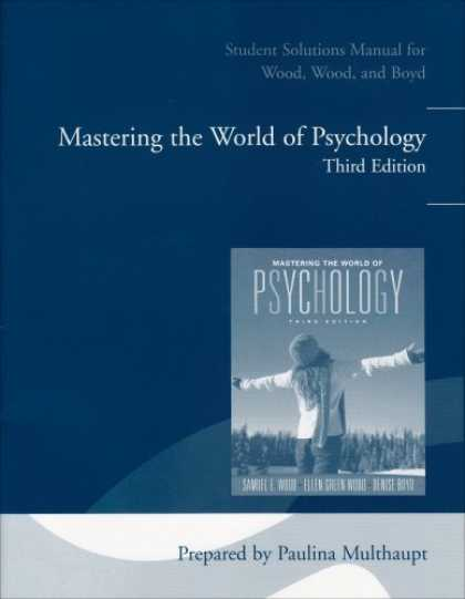 Books About Psychology - Student Solutions Manual for Mastering the World of Psychology