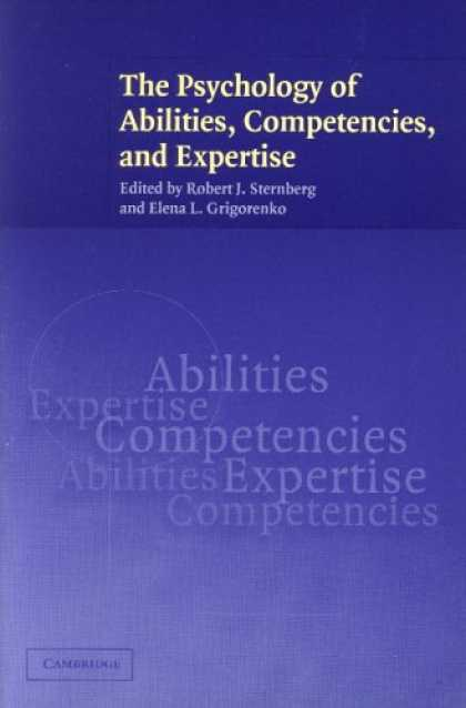 Books About Psychology - The Psychology of Abilities, Competencies, and Expertise