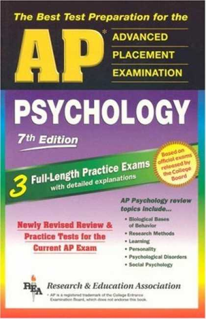 Books About Psychology - AP Psychology 7th Edition (REA) - The Best Test Prep for the AP Exam (Test Preps