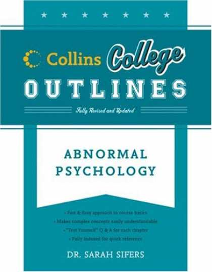 Books About Psychology - Abnormal Psychology (Collins College Outlines)