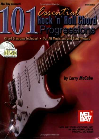 Books About Rock 'n Roll - Mel Bay 101 Essential Rock 'n' Roll Chord Progressions