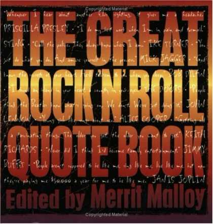 Books About Rock 'n Roll - The Great Rock 'N' Roll Quote Book