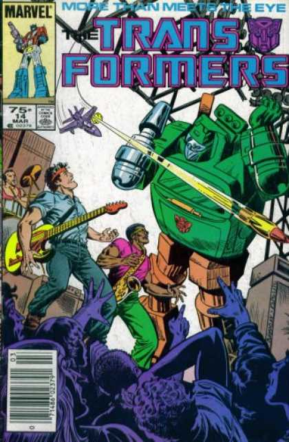 Books About Rock 'n Roll - The Transformers # 14 : Rock and Roll-Out (Marvel Comic Book 1987