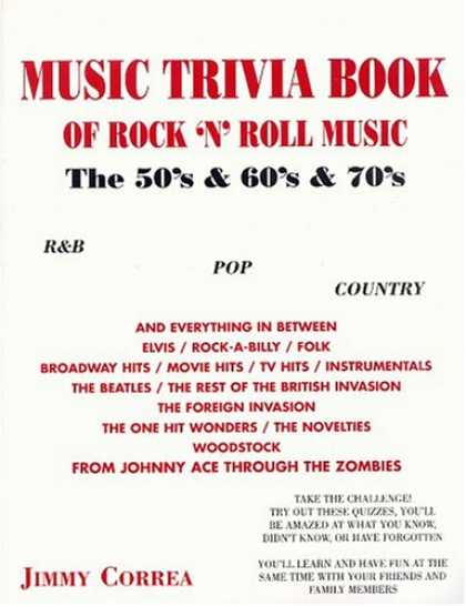 Books About Rock 'n Roll - Music Trivia Book Of Rock 'n' Roll Music: The '50s & '60s & '70s