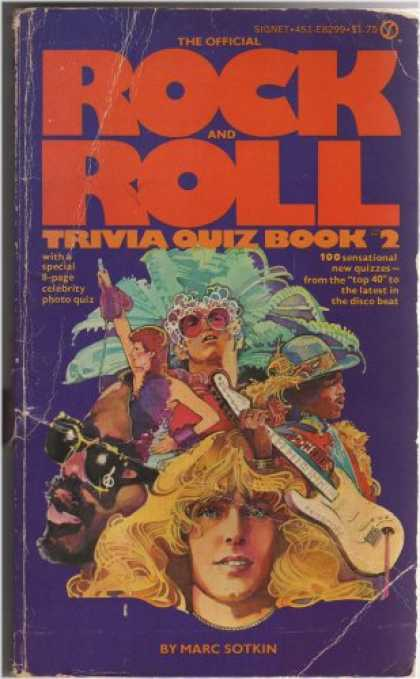 Books About Rock 'n Roll - The Official Rock and Roll Trivia Quiz Book 2. With a Special 8-page Celebrity P