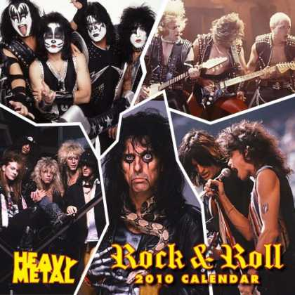 Books About Rock 'n Roll - Rock and Roll Stars 2010 Wall Calendar