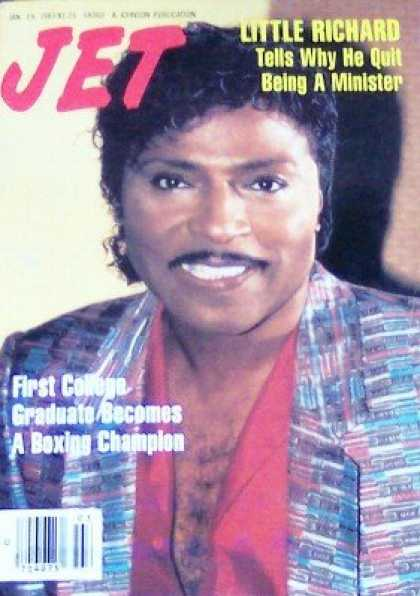 Books About Rock 'n Roll - Jet Magazine Jan. 19, 1987 Little Richard Rock and Roll