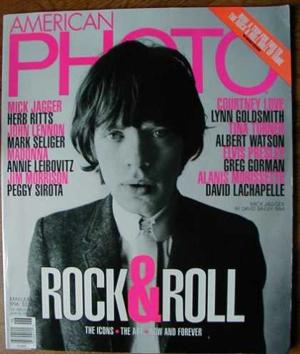 Books About Rock 'n Roll - American Photo May/June 1996 (Rock & Roll: The Icons - The Art - Now and Forever