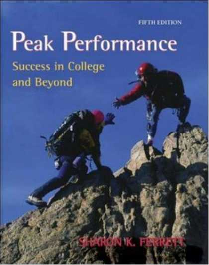 Books About Success - Peak Performance: Success in College and Beyond with online access card