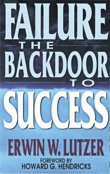 Books About Success - Failure: The Back Door to Success