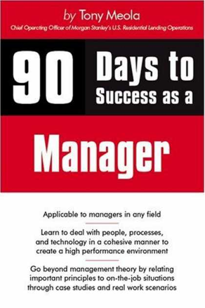 Books About Success - 90 Days to Success as a Manager