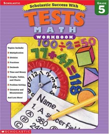 Books About Success - Scholastic Success with Tests: Math Workbook Grade 5 (Grades 5)
