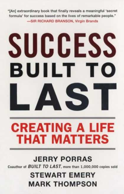 Books About Success - Success Built to Last: Creating a Life that Matters