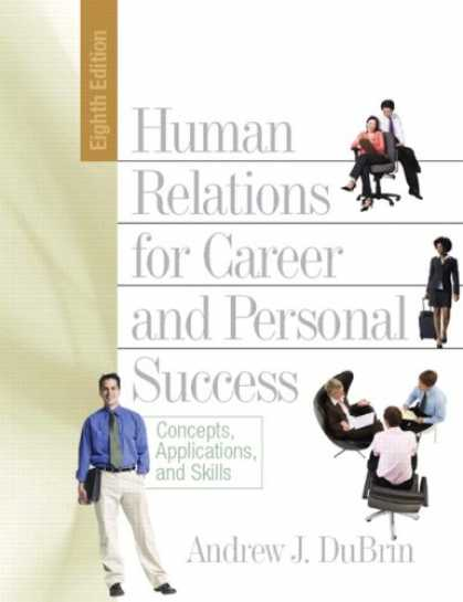 Books About Success - Human Relations for Career and Personal Success: Concepts, Applications, and Ski