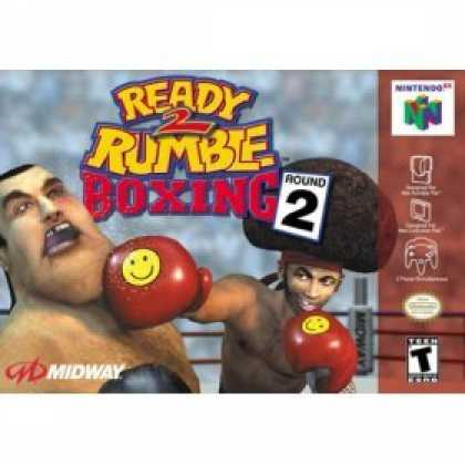Books About Video Games - READY 2 RUMBLE BOXING ROUND 2 (NINTENDO N64 VIDEO GAME CARTRIDGE) (READY 2 RUMBL