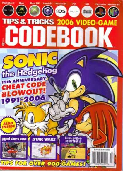 Books About Video Games - Tips & Tricks 2006 Video-game Codebook (Featuring Sonic the Hedgehog 15th Annive