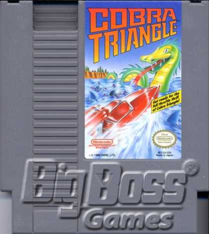 Books About Video Games - NES NINTENDO VIOE GAME COBRA TRIANGLE VIDEO GAME (NINTENDO NES 8-BIT VIDEO GAME