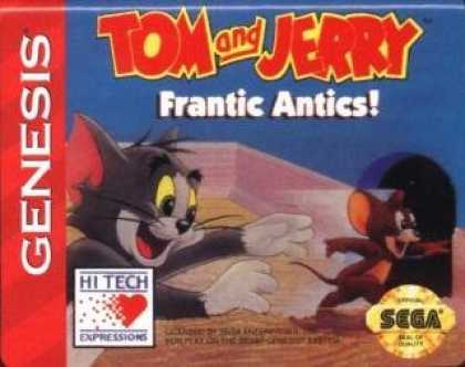 Books About Video Games - TOM AND JERRY FRANTIC ANTICS (SEGA GENESIS 16-BIT VIDEO GAME CARTRIDGE) (TOM AND