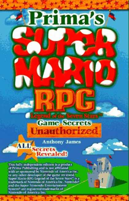 Books About Video Games - Super Mario RPG Game Secrets: Unauthorized (Secrets of the Games Series.)
