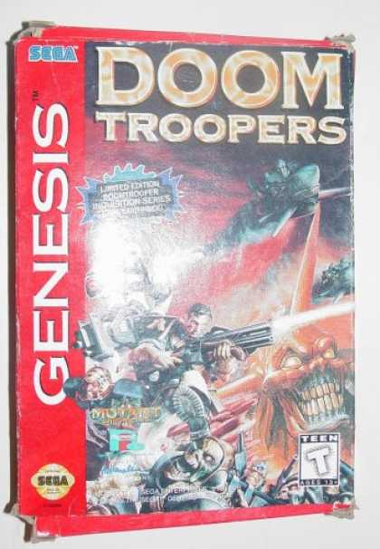 Books About Video Games - Doom Troopers By Mutant Chronicles Sega Genesis Video Game