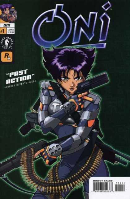 Books About Video Games - ONI # 1-3 Animae Story Inspired By Playstation2 Video Game (ONI (2001 DARK HORSE