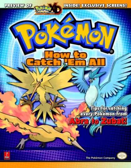 Books About Video Games - Pokemon: How To Catch 'Em All (Prima Official Game Guide)